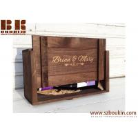 Buy cheap WOODEN WINE BOX Personalized Wine Box for Weddings Ceremonies and Anniversary Gifts Holds Two Wine Bottles from wholesalers