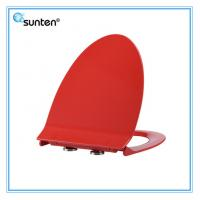 SU020 Xiamen Sunten Red Color Elongated V Shape Human Toilet Seat Covers Of X
