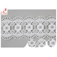 Buy cheap DTM Embroidered Floral Guipure Water Soluble Lace Trim Pass SGS Certificate product