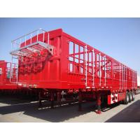 Buy cheap China Factory CIMC Goose Neck 3 Axle Fence Cargo Semi Trailer for sale from wholesalers