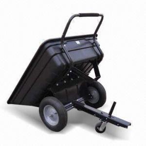 Buy cheap 10ft³ Plastic Push And Tow Dump Cart with 700lb Maximum Load Capacity product