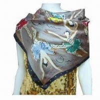 Buy cheap Digital Printed Scarf, Made of Silk, Various Colors are Available from wholesalers