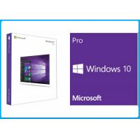 Buy cheap 32 Bit / 64 bit Microsoft Windows 10 Pro Software Retail Box Global License Product OEM Key from wholesalers