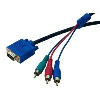 Buy cheap HDTV Component Video Monitor VGA Cable , VGA Cable to 3RCA Cable from wholesalers