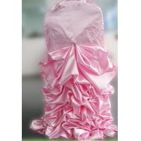 Buy cheap ZEBO Spandex Ruffled Wedding Banquet Chair Covers Pink Color Excellent Elasticity from wholesalers