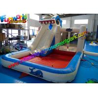 Buy cheap Shark Outdoor Inflatable Water Slides , Air Combo Bouncer With Water Pool from wholesalers