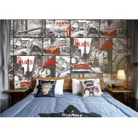 Buy cheap Paris Themed Wallpaper For Bedroom / Removable Boys Room Wallpaper product