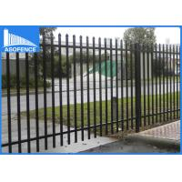 China Malaysia Market 1.8m*2.4m welded and powder painted garrison fence / used wrought iron fencing / gate on sale