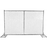 Buy cheap Chain Link Panels Australian Temporary Fencing With 38mm Round Pipe Frame from wholesalers