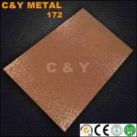 Buy cheap CY-172 Embossing stainless steel sheet with rose-gold for hotel and cabinet's decoration from wholesalers