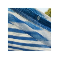 Buy cheap Blue & White Stripe Shade Sails  Outdoor Shading Net is a UV stabilized High-density polyethylene (HDPE) product