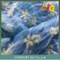 Buy cheap Home Furnishing Textiles 280cm Wide Embroider Polyester Curtain Voile Fabric product