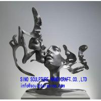 Buy cheap landscape bronze abstract kissing figure sculpture from wholesalers