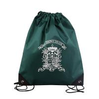 Buy cheap 210D Polyester Woven Packaging Bags Dark Green Single Side Image For Advertising from wholesalers