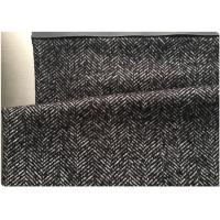 Buy cheap 58 Wool Herringbone Weave Fabric 42 Polyester , Herringbone Material Fabric Black White Color from wholesalers