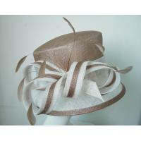 Buy cheap Church Sinamay Ladies Fashion Hats , coque tip feathers trim from wholesalers
