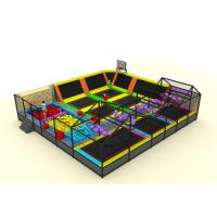 Buy cheap Commercial Soft Play Trampoline , Galvanized Steel Pipe Big Trampoline Park from wholesalers