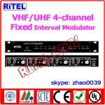 Buy cheap 4 channel VHF/UHF Agile Interval AV Converter/Modulator for Hospital/community/campus from wholesalers