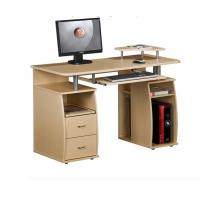 Buy cheap White Exquisite Wood Office Desks 15mm PB / MDF Panel With Hutch DX-8514 from wholesalers