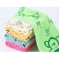 Buy cheap Children Custom Kitchen Tea Towels / Microfiber Face Towel With Cartoon Design from wholesalers
