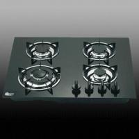 Buy cheap Gas Hob/Stove with Black Glass Worktop, 4 Burners and Cast Iron Trivets/Pan Support Safety Device from wholesalers