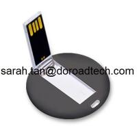 Buy cheap Custom LOGO Printing Best Quality High Speed Plastic Mini Round Card USB Pen Drives from wholesalers