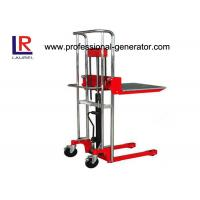 Buy cheap Warehouse Transport Equipment High Lift Hand Mini Stacker With Standard Platform product
