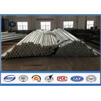 Buy cheap 69KV HDG Octagonal Galvanized Steel Pole for 30FT 35FT Distribution Burial Type from wholesalers