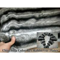 Buy cheap Chinchilla Color Rex Rabbit Fur Plates from wholesalers