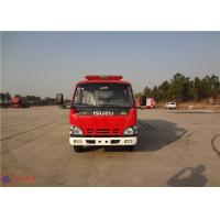 Strobe Lights Installed Water Tanker Fire Truck With Hydraulic Control Clutch