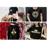 Buy cheap China Supplier Gold/Silver Holographic Hot Stamping Foil Hot Foil Stamping On T-shirts/Leather/Sportswear By Heat Press from wholesalers