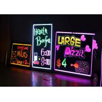 Buy cheap Flashing Erasable LED Writing Board , Black Light Writing Board Energy Saving from wholesalers