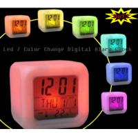 Buy cheap desktop led digital alarm clock with 7 glowing color change from wholesalers