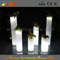 Buy cheap Wedding Decoration Illuminated Cocktail Table , RGB LED Plastic Roman Columns from wholesalers