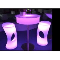 Buy cheap Adjustable Height Light Up Bar Table , Bright Led Cocktail Table Eco Friendly product