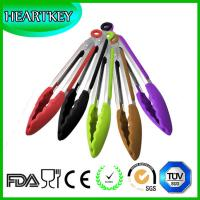 Buy cheap Silicone Cooking Tongs - Premium Quality Silicone Tongs fo- Salad & Grill (BBQ) Stainless Steel Tongs with Silicone Tips from wholesalers