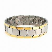 Buy cheap 2012 Charm 5-in-1 Double Raw Magnetic Bracelet, Customized Colors and Logos Welcomed product