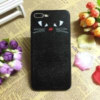 Buy cheap PC+TPU Silk Grain Lovely Cat And Girl Face Back Cover Cell Phone Case For iPhone 7 6s Plus from wholesalers