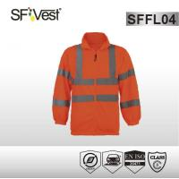 Buy cheap EN ISO 20471 Bright colored Hi Vis Sweatshirt with elastic cuff , 100% polyester fleece fabric product