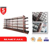 Buy cheap Metal Gondola Store Shelving / Department Store Shelving With Wire Mesh Panel from wholesalers