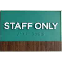 Buy cheap Wood Grain Vinyl ADA Room Signage Wood Vinyl Accent 1/32 White Raised Text from wholesalers