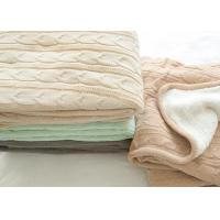 Buy cheap Customized Warm Soft Knitted Wool Blanket 100% Polyester For Home from wholesalers