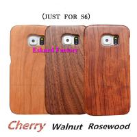 Buy cheap Classic Retro Wood Phone Cases For Samsung Galaxy S6 Back Cover Genuine Natural Wood Phone Cover With Wholesale Price from wholesalers