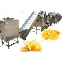 Buy cheap Industrial Automatic Potato Chips Making Machine Electric Heating With High Capacity 200kg/H from wholesalers