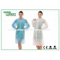 China Polyethylene disposable lab gowns with Shirt Collar , CE Certificate on sale