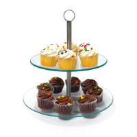 Buy cheap 2 Layer Glass Cake Stand from wholesalers