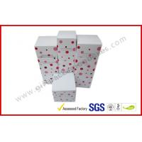 Buy cheap Lovely Cosmetic Packaging Boxes / Brand Paper box with White Corrugated Insert from wholesalers