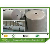 Buy cheap 100% recycled Grey Paper Roll folding resistance Support customized cut from wholesalers