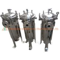 Buy cheap High Precision Eyebolt Structure Stainless Steel Filter Press SS304 Single Bag Filter Housing from wholesalers