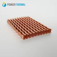 Buy cheap Custom Copper folded fin stamping heatsink Design Manufacturer in China from wholesalers